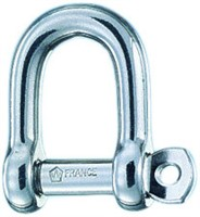Straight shackle d  6 standard